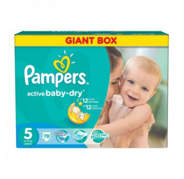 Подгузники Pampers Active Baby-Dry 5 (78)